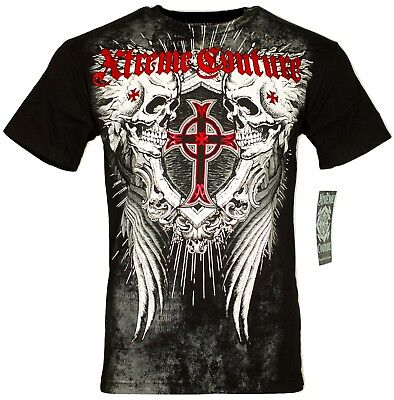 XTREME COUTURE by AFFLICTION Men T-Shirt DEATH DANCE Wing Biker MMA UFC M-4X $40