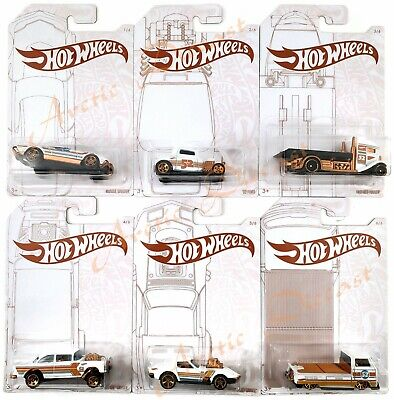 Hot Wheels 52nd Anniversary Pearl and Chrome Series Set of 6 Cars 2020 IN STOCK