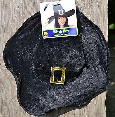 Rubies Black Witch Hat w/ Buckle  **NWT**  Rubies #49429
