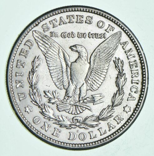 1921-S Morgan Silver Dollar - Last Year Issue 90% $1.00 Bullion Polished - XF/AU