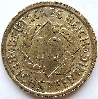 TOP! 10 REICHSPFENNIG 1933 J in VORZÜGLICH / STEMPELGLANZ SELTEN !!!