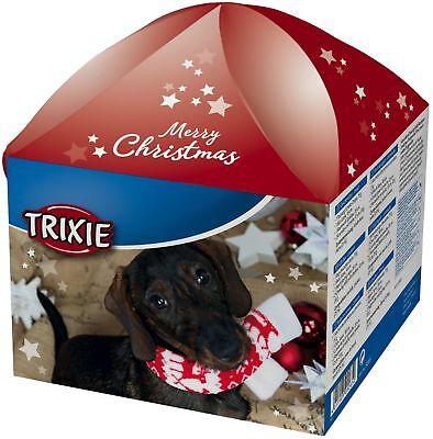 Xmas Geschenkbox für Hunde Weihnachtsbox Spielzeug Leckerlie Leckerlis Trixie