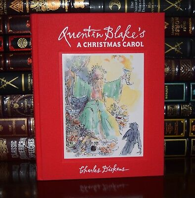 Christmas Carol Charles Dickens Illustrated Quentin Blake New Deluxe Hardcover ()