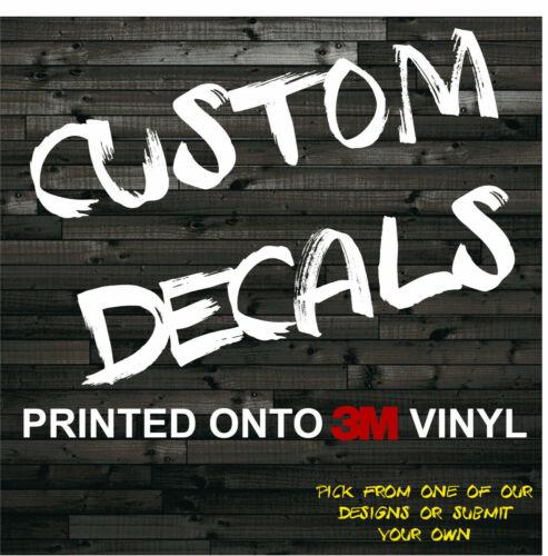 Custom Decal Sticker Text Image Vinyl Graphics Printed Car Truck Window Bumper