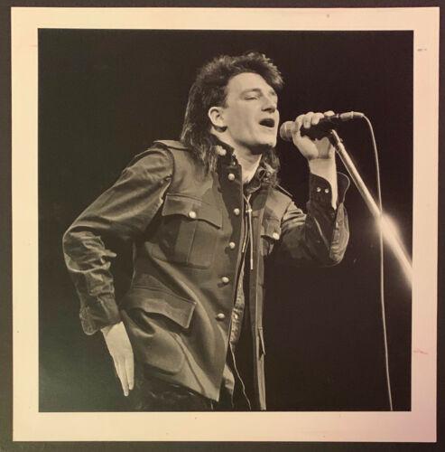 1987 Bono Unique Vintage U2 Photo Lead Singer In Concert By Steve Campbell