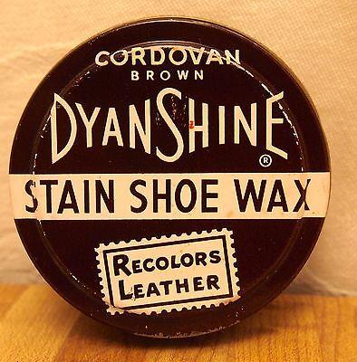 DYNASHINE DYNA SHINE STAIN SHOE WAX - POLISH - CORDOVAN BROWN - MADE IN USA