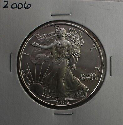 2006 BU American Silver Eagle Dollar Uncirculated ASE US Mint Bullion Coin