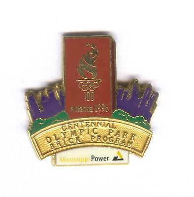 1996 Atlanta Summer Olympic Mississippi Power Brick Pin From Set Rare