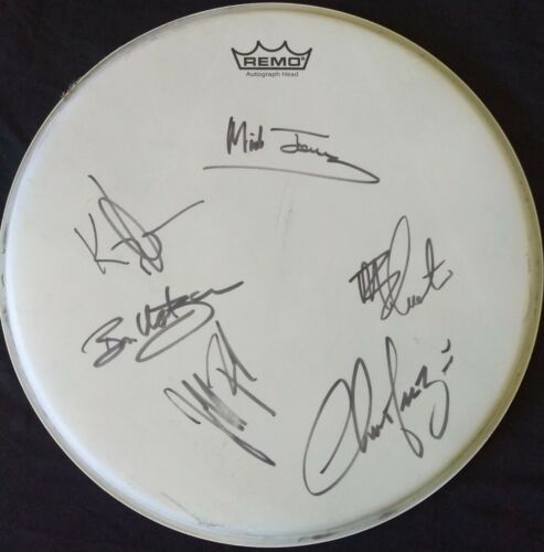 Foreigner - Autographed Drum Head from 2015 tour. All members incl. Mick Jones
