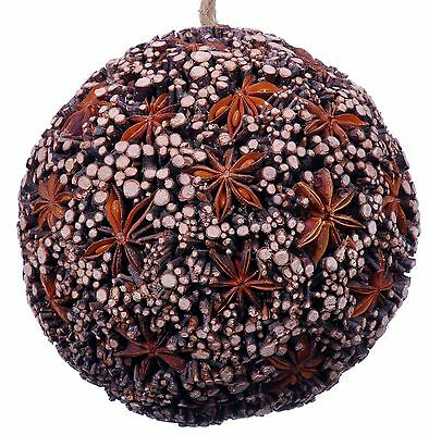Star Anise Twig Mosaic Decorative Ball Ornament Natural Christmas Tree New 521f