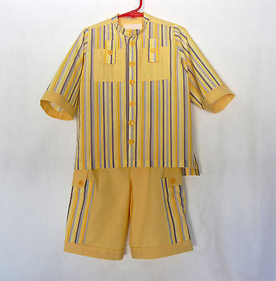 Casual Suits For Boys (*Handcrafted*  Yellow & Stripe SUIT  for Boys 2 (two))