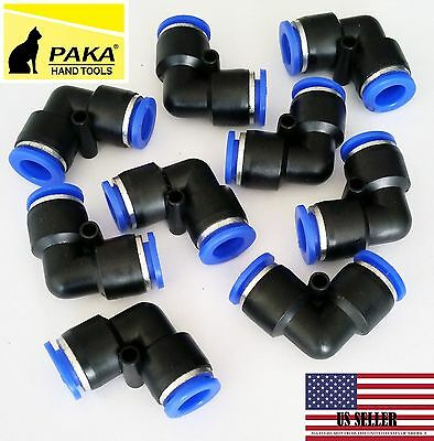 6 Pc Tube Od 8mm 516 Elbow Union Pneumatic Quick Connector Air Fittings Pus