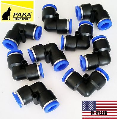 40 Pc Tube Od 8mm 516 Elbow Union Pneumatic Quick Connector Air Fittings Pus