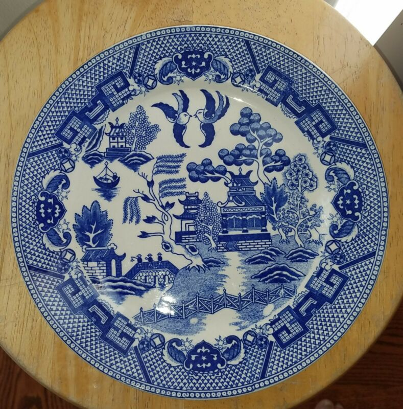 Blue Willow Ware Dinner Plate (Japan)