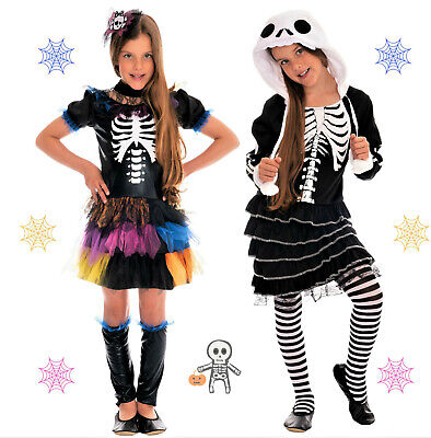 Halloween Skelett Kostüm Kinder Mädchen Vampir Kostüm Kind - Skelett Kostüm Mädchen