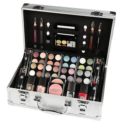 Schminkkoffer Alu, Geschenkset für Damen, Frauen, Make up Beauty Kosmetikkoffer