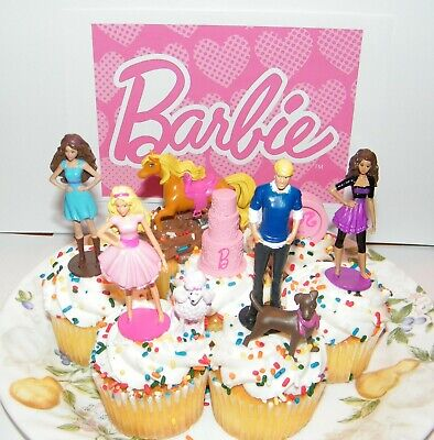 Barbie, Ken and Friends Birthday Cake Topper Set of 9 Fun Decorations](Barbie Birthday Decorations)