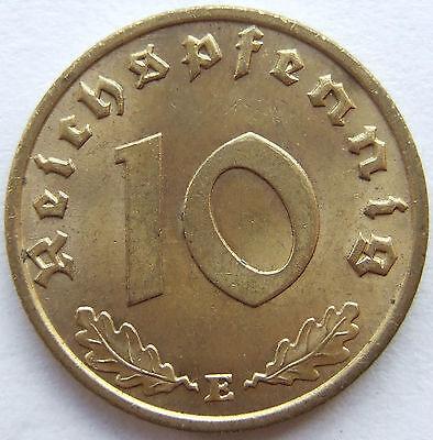 TOP! 10 Pf 1937 E in fast STEMPELGLANZ SELTEN !!!