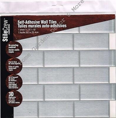 (Peel Stick Wall Tile Kitchen Bathroom Backsplash Sticker Sheet Gray SUBWAY Brick)