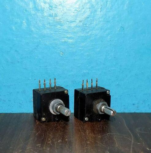 2 Genuine Noble 204Y10KΩ Mono Detent Log Potentiometers Pot 10KΩ Audio