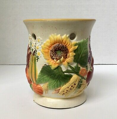 Yankee Candle Tart Warmer Fall Harvest Pumpkins Apples Sunflowers Wheat