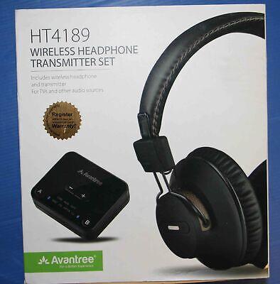 Avantree HT4189 Wireless Headphones w/Bluetooth for TV Watching - Brand New