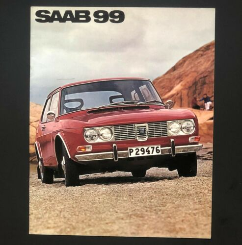 1969 Saab 99 Original Sales Brochure Specifications Photos Features Vintage Car