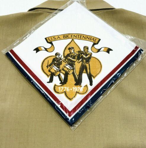 BOY SCOUT 1976 USA BICENTENNIAL NECKERCHIEF VINTAGE BSA OFFICIAL NEW 10% OFF 2+