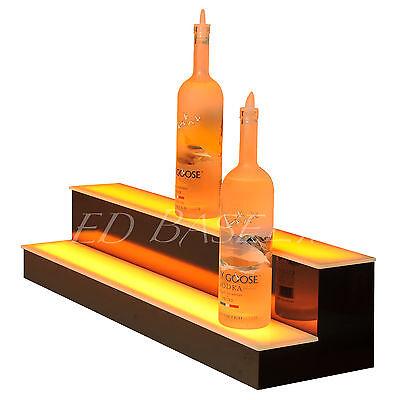 32 Led Lighted Bar Shelves Two Step Led Liquor Bottle Displ Display Shelving