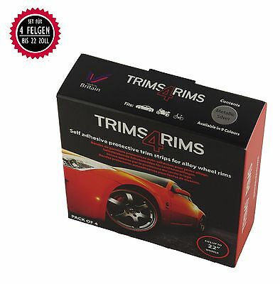 Trims4Rims by Rimblades Felgenschutz Styling Felgenringe Rim Protector SILBER