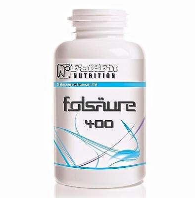 Folsäure 250 (23,28€/100g) Tabletten je 400mcg - Folic Acid - Vitamin B9