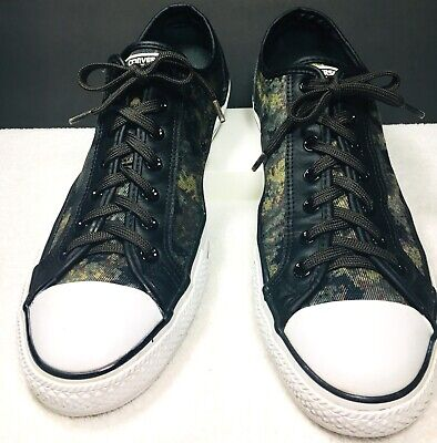 Converse All Star CT Overlay Ox Trainers 146463C Black Cactus  Camo Men's Sz 12 (Cactus Converse)