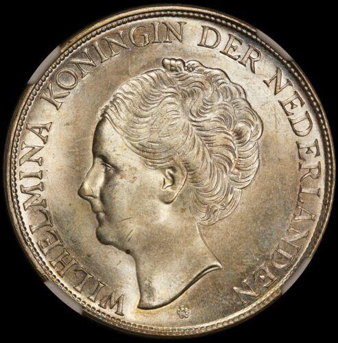 1944-D Curacao 2.5 2 1/2 Gulden Silver Coin - NGC MS 64 - KM# 46