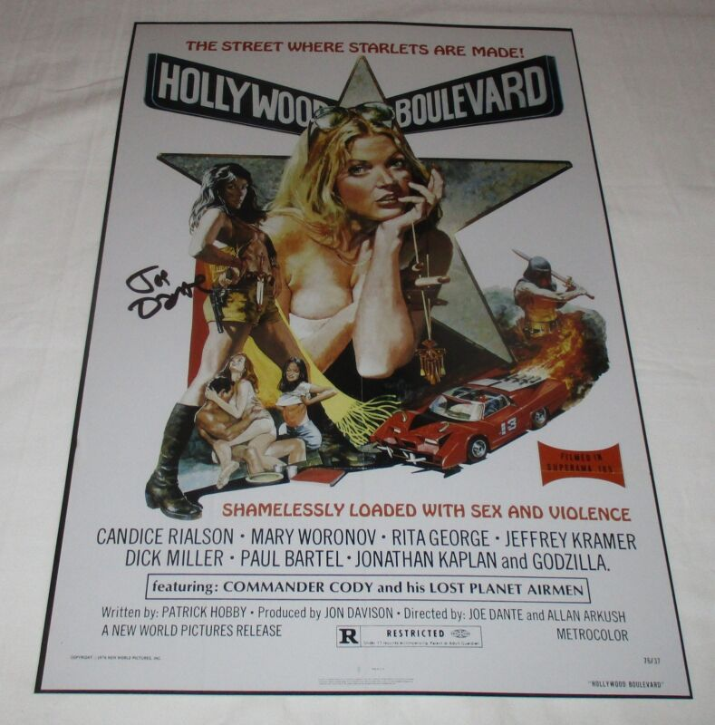 JOE DANTE SIGNED HOLLYWOOD BOULEVARD 12X18 MOVIE POSTER