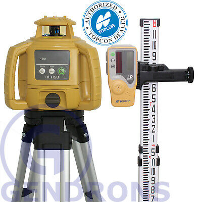 Topcon Rl-h5b Self-leveling Rotary Laser Level Tripod Grade Rod Inch