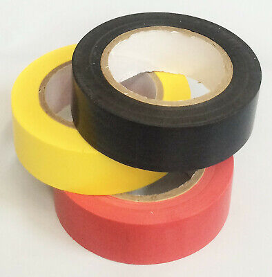 High Quality Pvc Electrical Wire Insulating Tape Roll Tape 3 Color 9.9ft3.0m