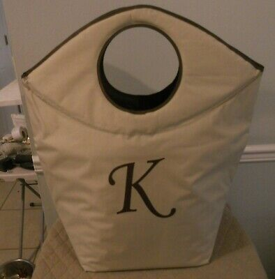 - Pursfection Multi-Purpose Monogrammed Collapsible Tote Bag PICK YOUR INITIAL $44