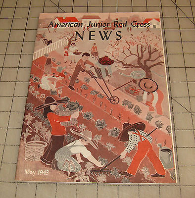 American Junior Red Cross News  May 1943  Vg  Condition Magazine