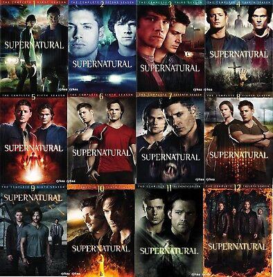 Supernatural Individual Season Dvd Sets 1 2 3 4 5 6 7 8 9 10 11 Or 12 1 12 New