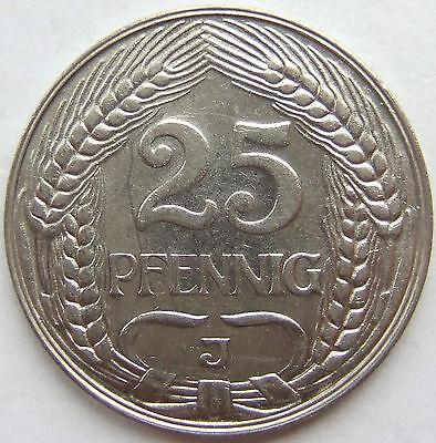 TOP! 25 Pf 1912 J in VORZÜGLICH / STEMPELGLANZ SELTEN !!!
