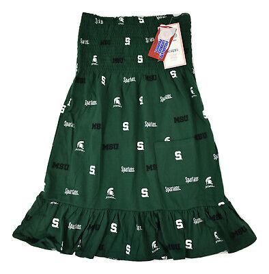 E5 NCAA Womens Michigan State Spartans Strapless Dress NWT S, M, L, -