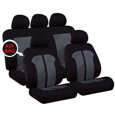 Universal Car Seat Covers Full Set Classic Tweed Washable Airbag Compatible