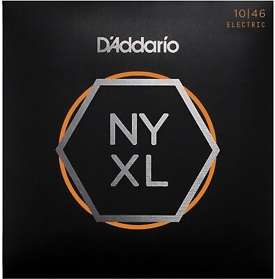 D'Addario NYXL1046 Nickel Wound Regular Light 10-46 Guitar Strings  ()