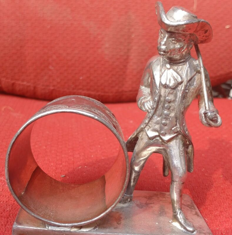 Figural Monkey Silver-plated Napkin Ring $275