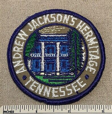Vintage ANDREW JACKSON'S HERMITAGE House Embroidered Badge PATCH Tennessee