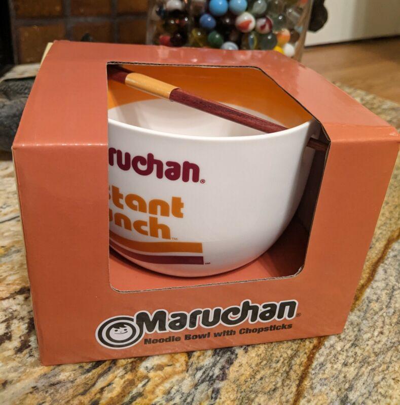 Maruchan Ceramic Ramen Noodle Bowl With Chopsticks - New | Top Ramen RARE