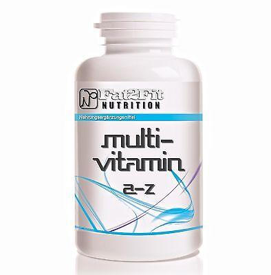 Multivitamin A-Z 500 Tabletten - 100% RDA Tagesbedarf -  Vitamine & Mineralien
