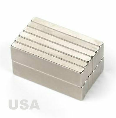 6 Pcs Super Strong Block Cuboid Bar Magnets 1 X 14 X 110 Crafts Projects