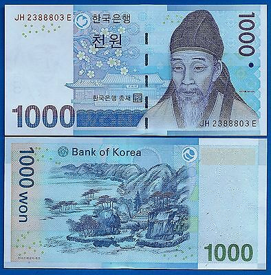 Korea South P 54 1000 Won Year Nd 2007 Uncirculated Free Shipping