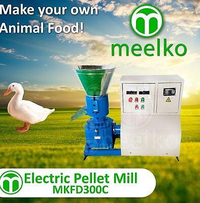 PELLET MILL 22kw  ELECTRIC ENGINE PELLET PRESS 3 PHASE USA STOCK (3mm mid bird)